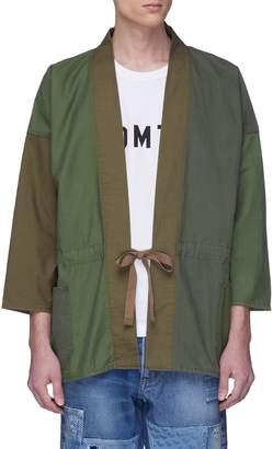 FDMTL Logo print colourblock kimono jacket