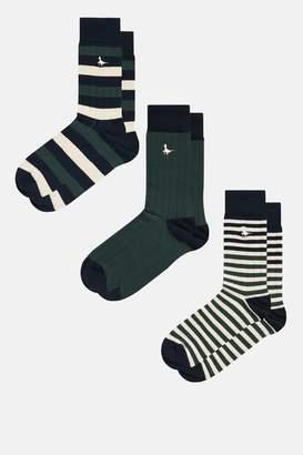 Jack Wills Shirebrook Stripe 3 Pack Socks