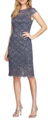 Alex Evenings Embroidered Cap Sleeve Dress