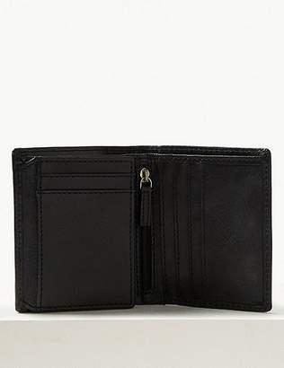 "Marks and Spencer Leather Bi Fold Wallet with Cardsafeâ""¢"