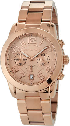 MICHAEL Michael Kors 41.5mm Mercer Chronograph Bracelet Watch, Rose Golden