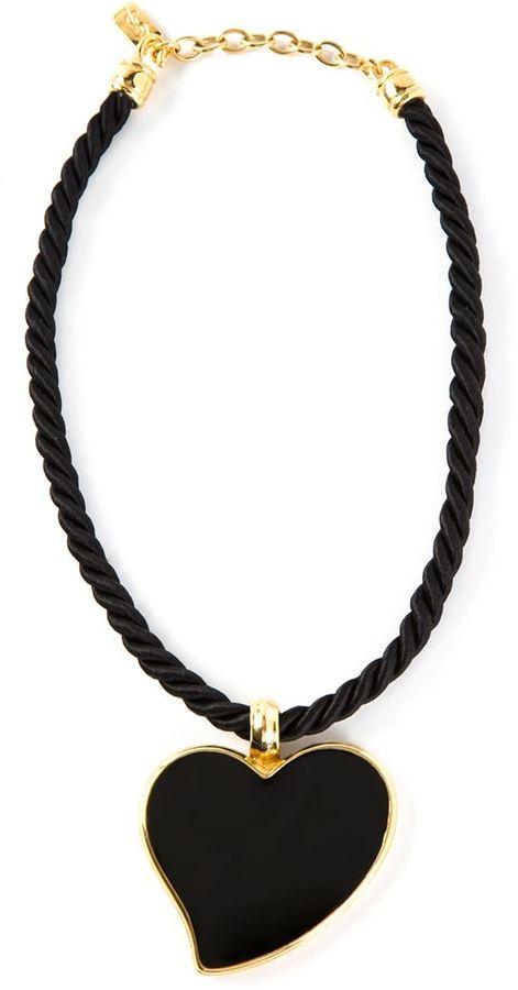 Yves Saint Laurent Vintage heart pendant necklace