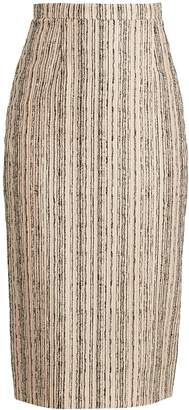 Roland Mouret Norley striped bouclé pencil skirt