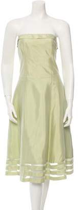 Vera Wang Strapless Midi Dress $195 thestylecure.com