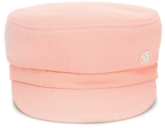 Maison Michel New Abby striped hat
