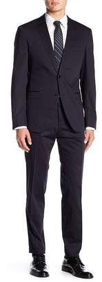 BOSS Reyno Woven Notch Collar Flat Front Pants 2-Piece Suit