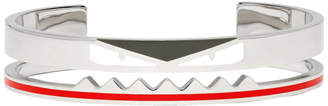 Fendi Silver Bag Bugs Cuff Bracelet