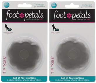 Foot Petals Women's Tip Toes Technogel 2-Pair Pack Insole
