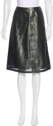 Marc Jacobs Silk Metallic Skirt