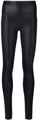 Spanx shiny slim-fit leggings
