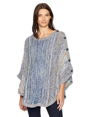 14431af8be5d5 Motherhood Maternity Women's Maternity Space Dye Sweater Poncho,Small/Medium