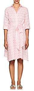Lisa Marie Fernandez Women's Eyelet Cotton Shirtdress - White Pat.