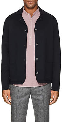 Barneys New York Men's Wool Jacket-Style Cardigan - Navy