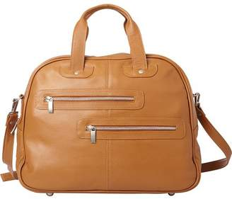 Piel Leather DOUBLE ZIP-POCKET LEATHER SATCHEL