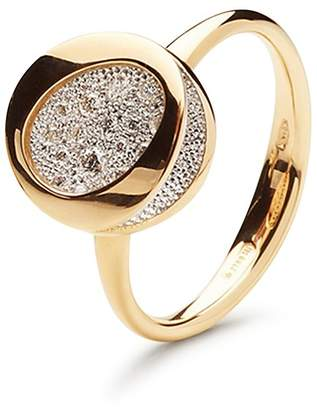 Antonini 18K Yellow Gold Pavé Diamond Small Ring