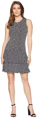 MICHAEL Michael Kors Leopard Sleeveless Flounce Dress Women's Dress