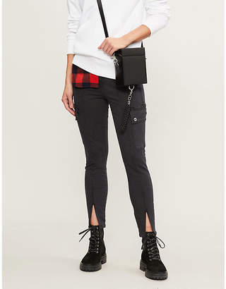 Good American Good Legs front split slim-fit high-rise jeans