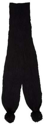 Stella McCartney Wool Knit Pom-Pom Scarf