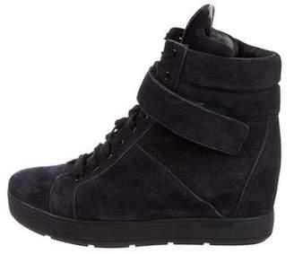 Prada High-Top Wedge Sneakers