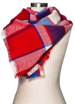 Merona Women's Blanket Scarf Red Plaid - Merona $19.99 thestylecure.com