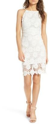 Women's Soprano High Neck Lace Body-Con Dress $49 thestylecure.com