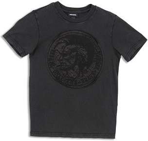 Diesel Boys' Tinnyx Embroidered Logo Tee - Big Kid