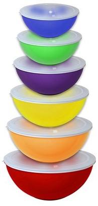 GOURMET HOME PRODUCTS Gourmet Home Products 12 Piece Nested Polypropylene Mixing Bowl Food Storage Set with Lids