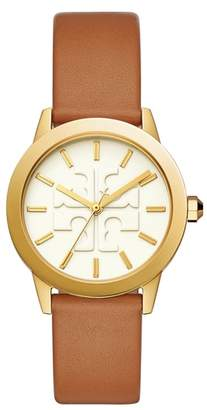 Tory Burch Gigi Leather Strap Watch, 36mm