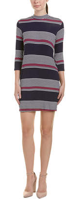Peach Love Ca Striped Shift Dress