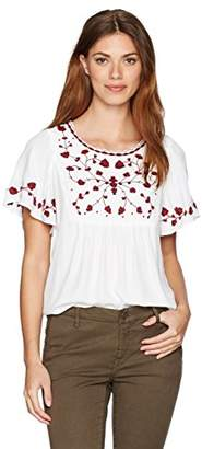 Lucky Brand Women's Hannah Embroidered Top
