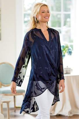 Soft Surroundings Silk Convertible Shirt & Cami