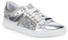 Alessandro Dell'Acqua Low-Top Metallic Sneakers