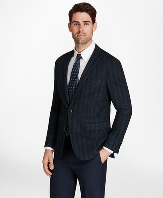 Brooks Brothers Regent Fit Herringbone Knit Sport Coat