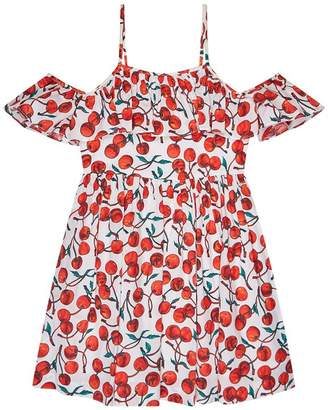 Milly Mini Cherry Print Bella Off-The-Shoulder Dress