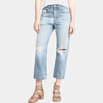 Rag & Bone High Rise Straight Jean in Shaker Wash
