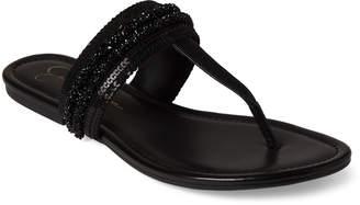Jessica Simpson Black Kina Embellished Thong Sandals