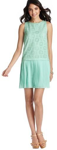 LOFT Petite Circle Eyelet Bodice Sleeveless Dress