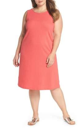 Caslon Button Back Knit Dress (Plus Size)