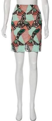Emilio Pucci Lace and Macramé Skirt