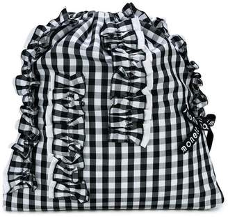 Simonetta ruffled detail check backpack