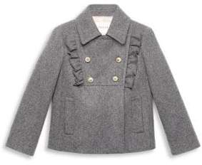 Gucci Little Girl's& Girl's Wool Ruffled Bib Coat