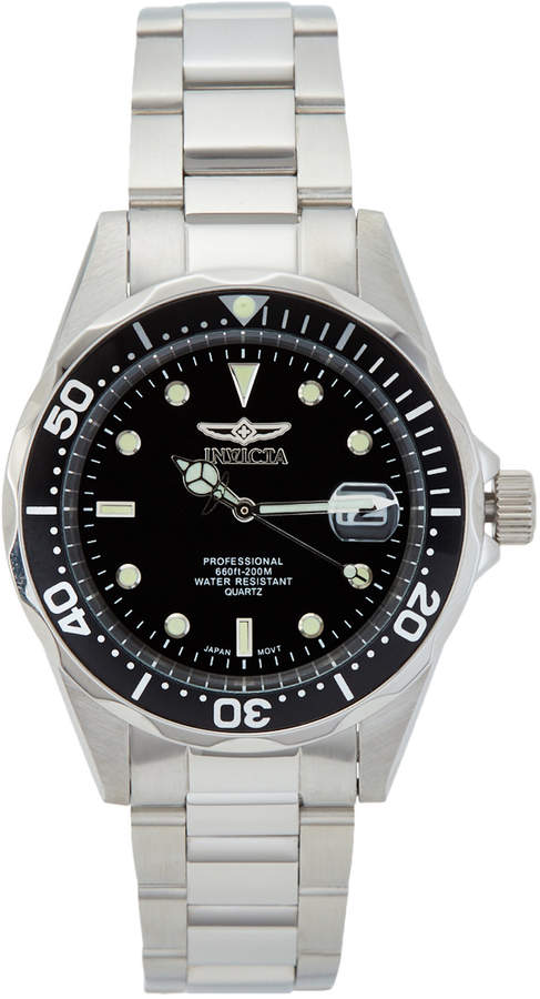 Invicta 8932 Silver-Tone & Black Watch