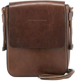 Brunello Cucinelli Goatskin Leather Crossbody Messenger Bag