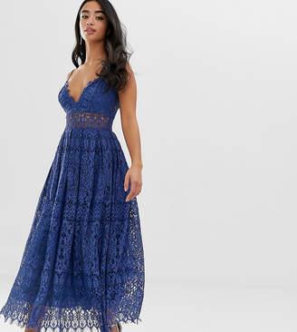 Asos DESIGN Petite lace cami midi prom dress