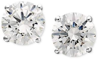 Arabella 14k White Gold Earrings, Swarovski Zirconia Round Stud Earrings (1-3/4 ct. t.w.)