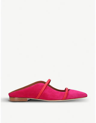 Malone Souliers Maureen suede backless flats