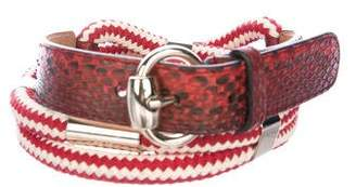 Gucci Embellished Snakeskin Belt