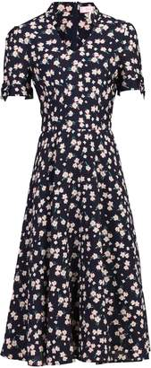 Jolie Moi Floral Print Short Sleeved Tea Dress