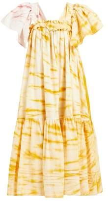 story. Mfg - Aida Tie Dye Organic Cotton Dress - Womens - Yellow