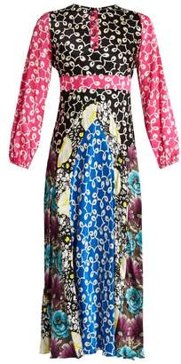 Duro Olowu - Ivy Contrast Panel Silk Dress - Womens - Multi